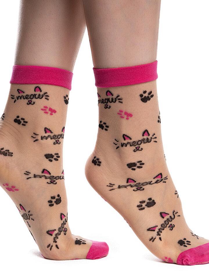 Zľava Veselé silonkové ponožky Mňau