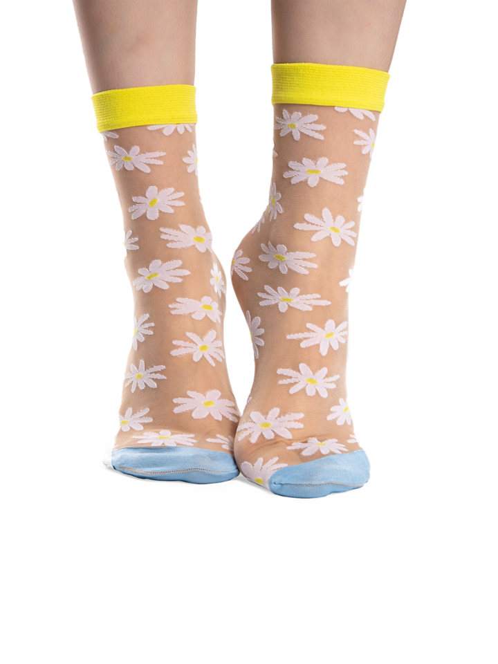 Gift idea Nylon Socks Daisies
