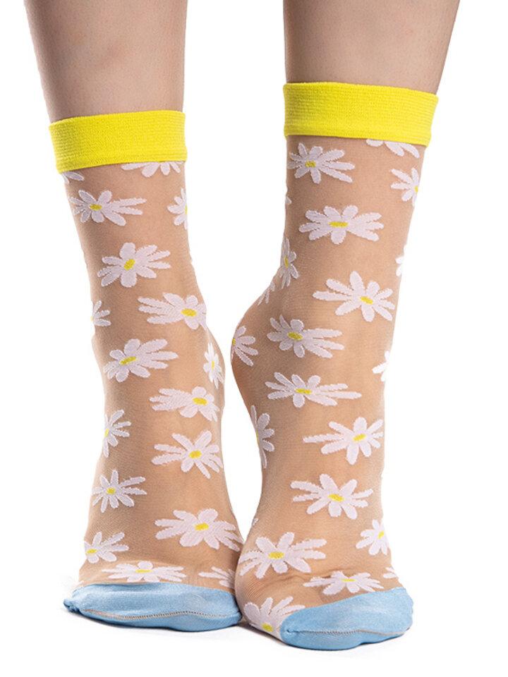 Sale Nylon Socks Daisies