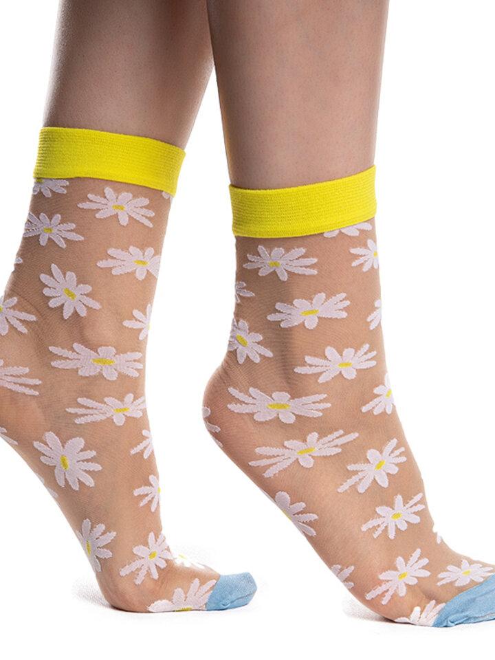 Pre dokonalý a originálny outfit Nylon Socks Daisies