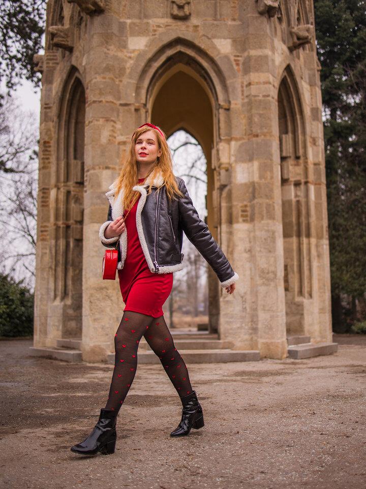 Pre dokonalý a originálny outfit Collants rigolos en nylon Cœurs rouges