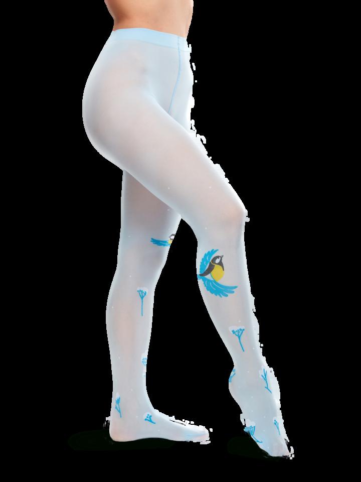 Pre dokonalý a originálny outfit Živahne hlačne nogavice Zimska ptica