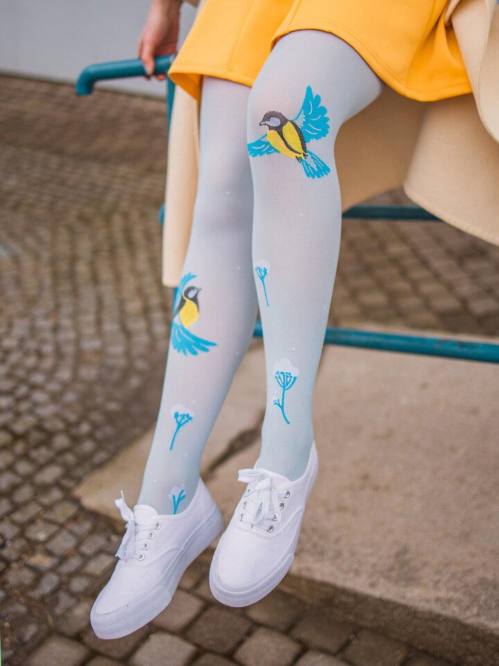 Obrázok produktu Živahne hlačne nogavice Zimska ptica