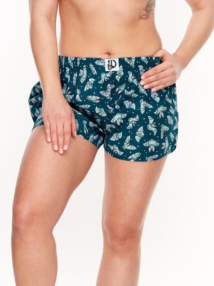 Foto Lustige Shorts für Frauen Fledermäuse in der Nacht