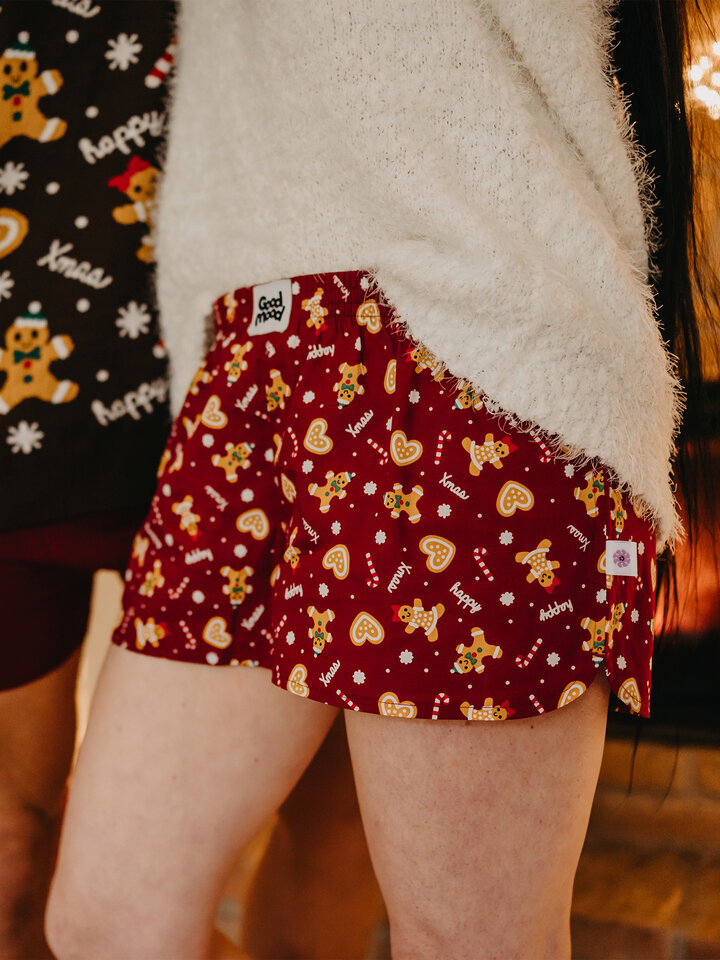 Original gift Women's Boxer Shorts Gingerbread World