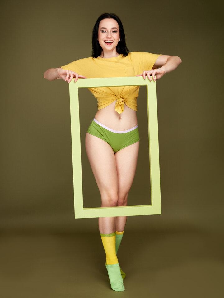 Potešte sa týmto kúskom Dedoles Olivovo zelené dámske nohavičky hipster