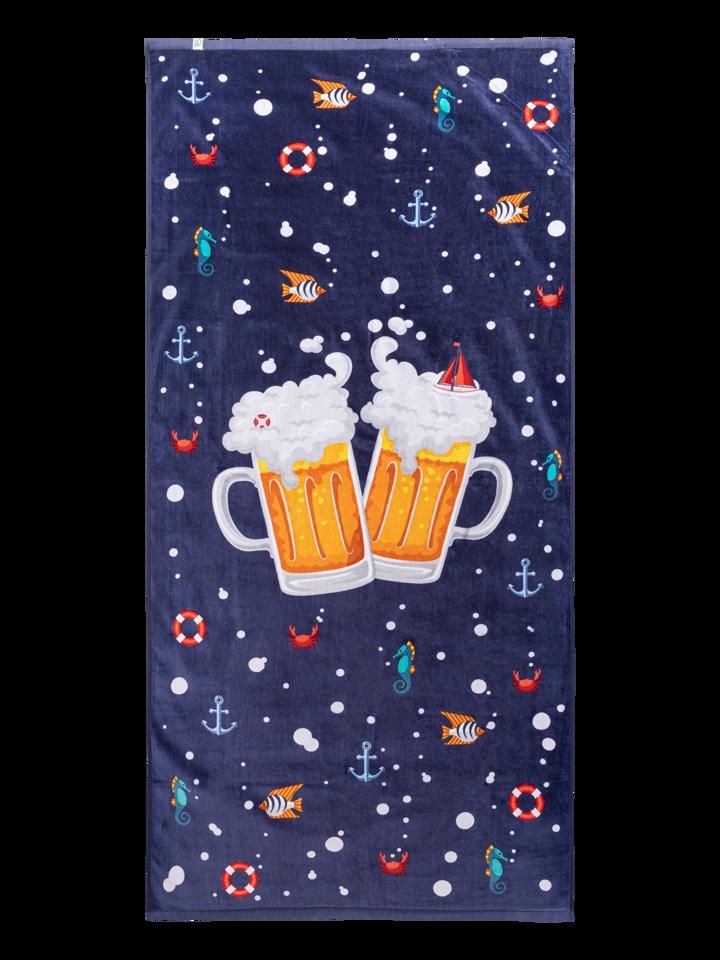 Obrázok produktu Veselý plážový uterák Pivo a čln