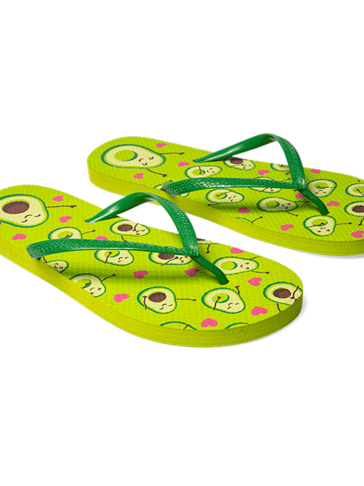 Sale Flip Flops Avocado Love