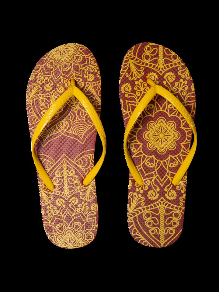 für ein vollkommenes und originelles Outfit Lustige Flip-Flops - Mandala