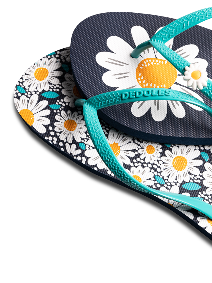 Geschenktipp Lustige Flip-Flops mit Verzierung Gänseblümchen