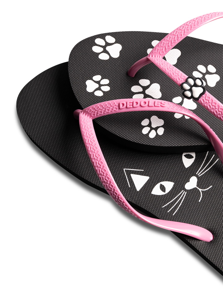 Original gift Flip Flops with Decoration Charm Kitty