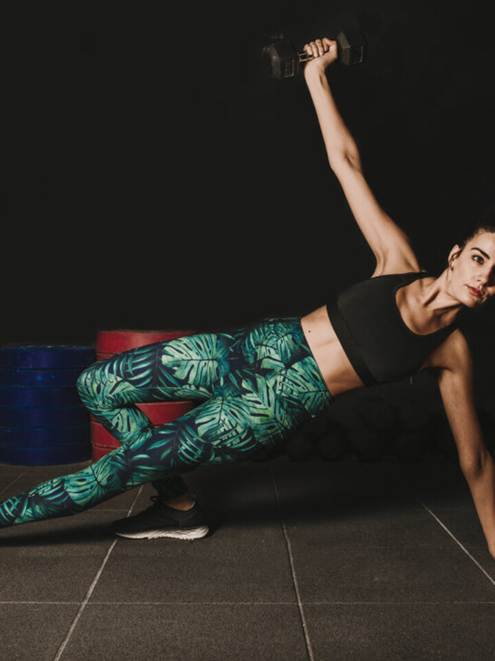 Obrázok produktu Vrolijke high-waisted leggings Monstera
