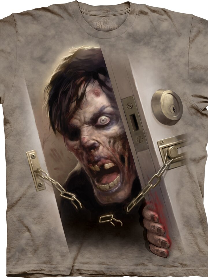 Lifestyle foto Tričko Zombie vo dverách