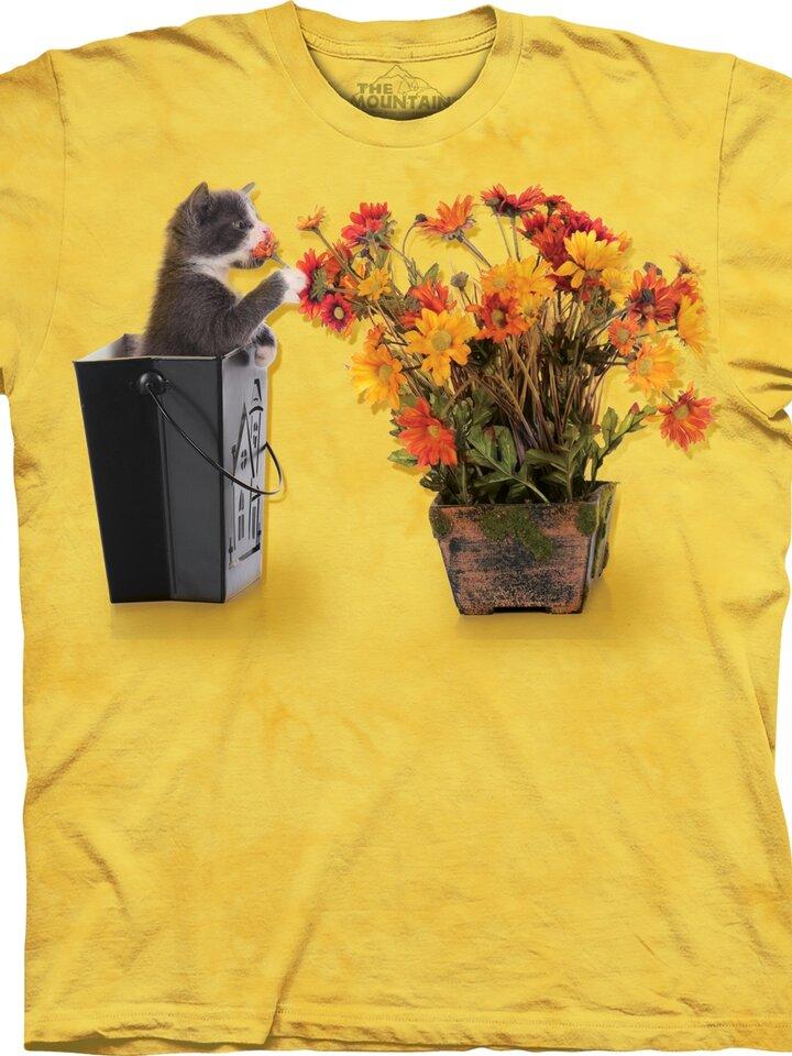 Geschenktipp T-Shirt Kätzchen und Blumen