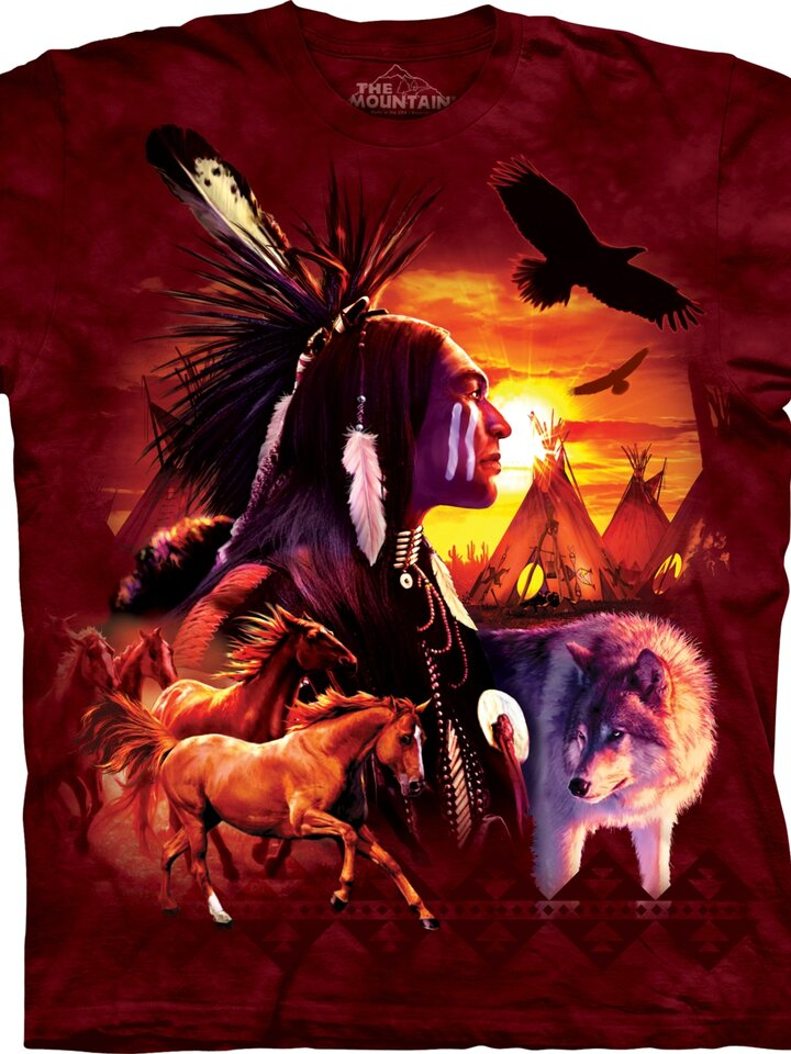 Sleva Tričko Indiánské symboly - dětské