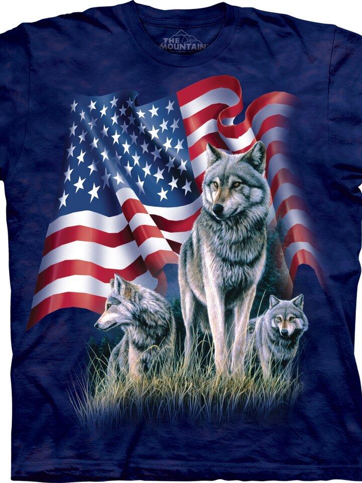Bereiten Sie sich Freude mit diesem Dedoles-Stück Wolf Flag Adult