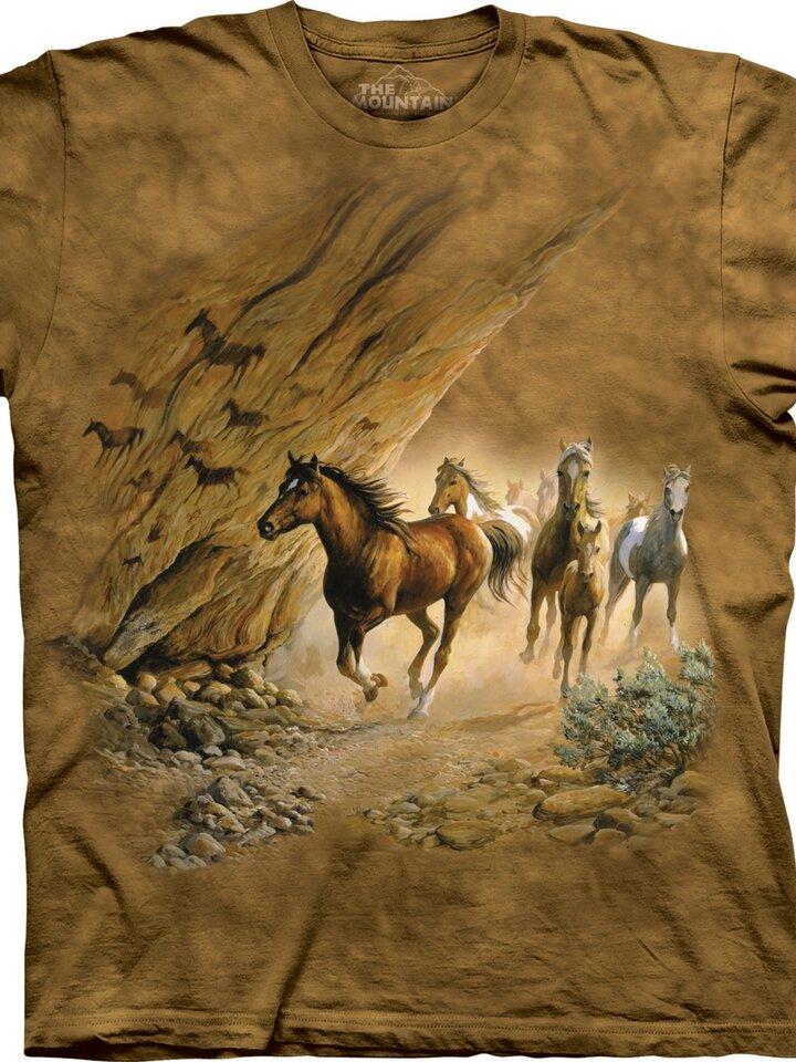 Suchen Sie ein originelles und außergewöhliches Geschenk? überrascht den Beschenkten sicher T-Shirt Gallopierende Pferde