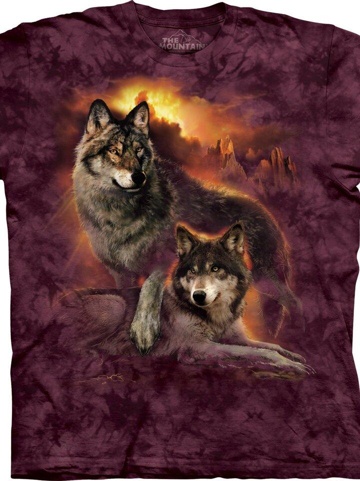 a tökéletes és egyedi ruházathoz Farkasos napnyugta póló