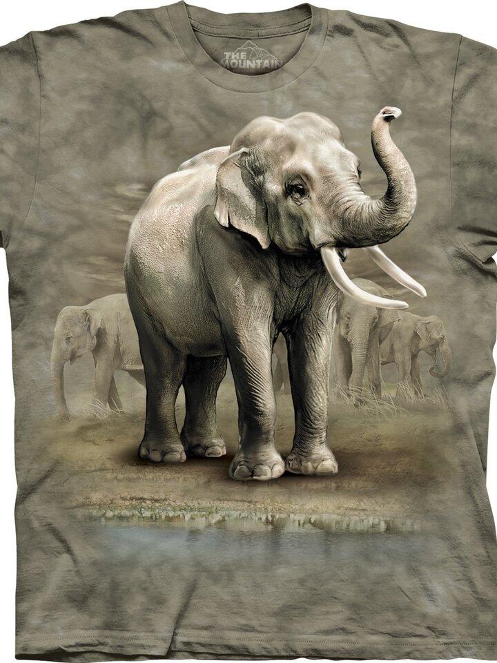 Hľadáte originálny a nezvyčajný darček? Obdarovaného zaručene prekvapí Tričko Ázijské slony