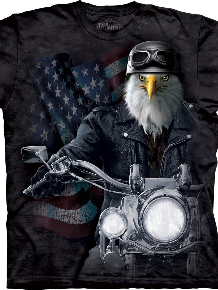 Rabatt T-Shirt Vogel Radfahrer