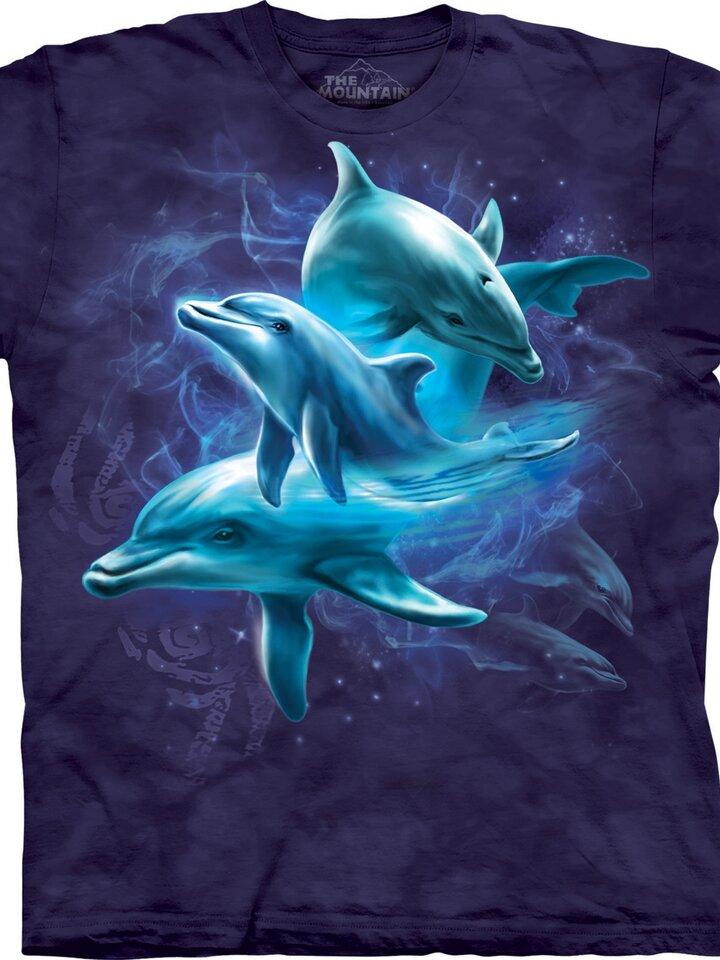 Suchen Sie ein originelles und außergewöhliches Geschenk? überrascht den Beschenkten sicher T-Shirt Delphine-Collage