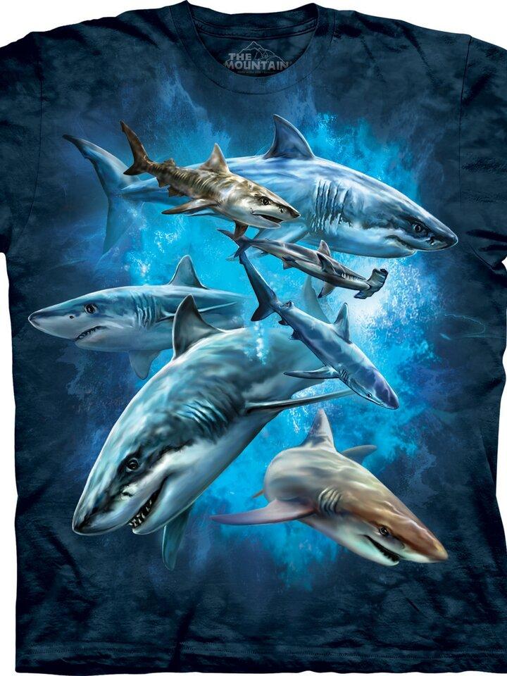 Výprodej Tričko Koláž žraloků