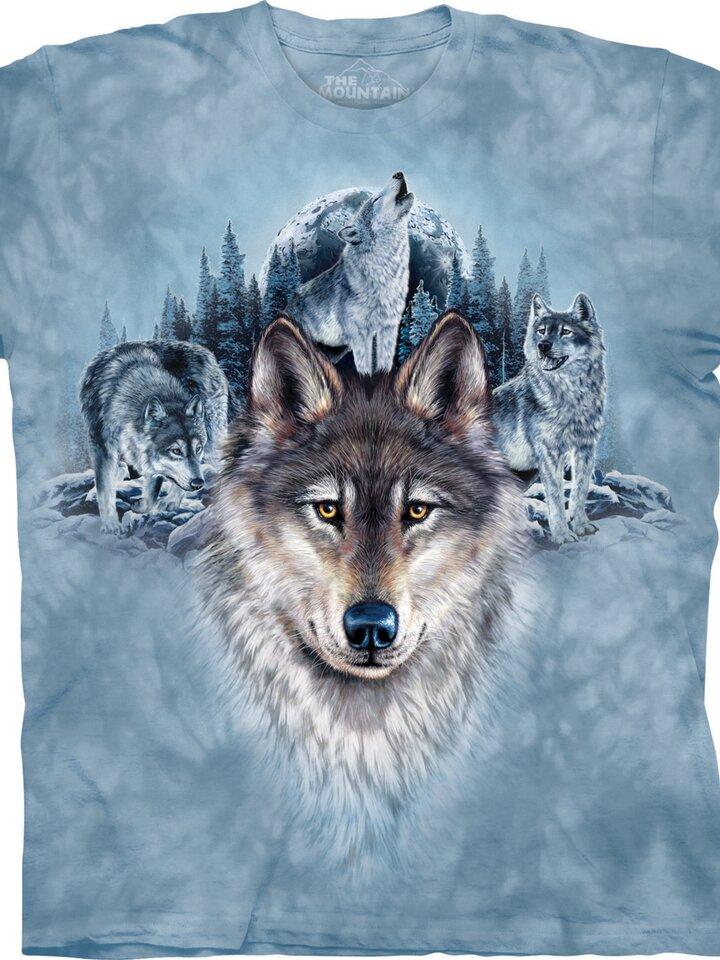 Zľava Tričko Modré vlky a mesiac