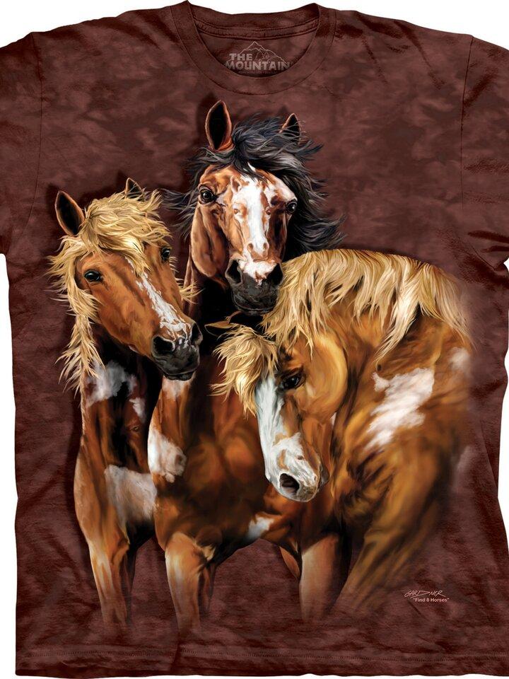 Foto T-Shirt Finde 8 Pferde