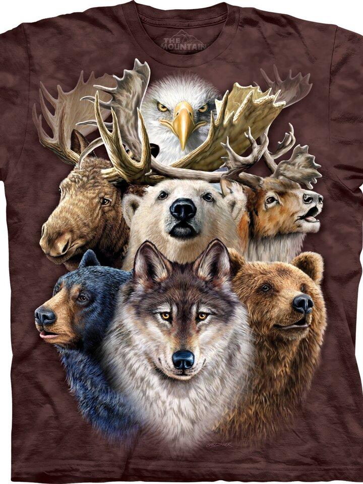 Výjimečný dárek od Dedoles Tričko Divoká zvířata ze severu