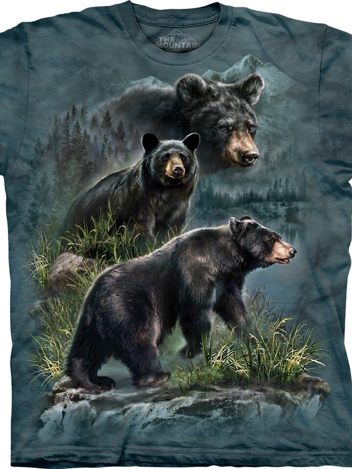 Suchen Sie ein originelles und außergewöhliches Geschenk? überrascht den Beschenkten sicher T-Shirt Drei schwarze Bären
