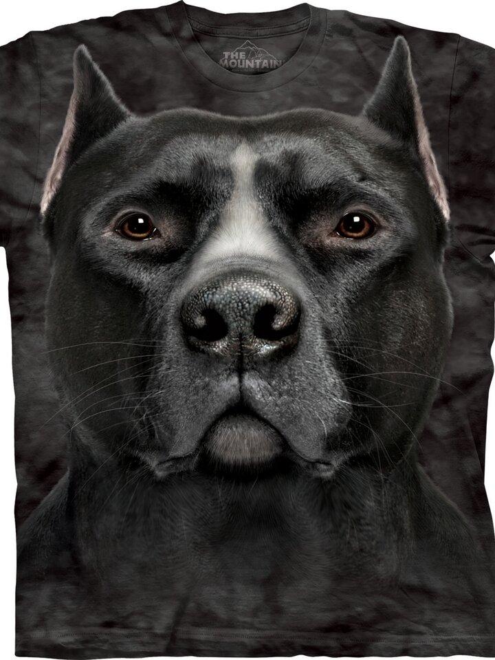 Tip na dárek Tričko Obličej černého pitbula