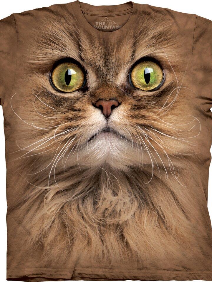 Sleva Tričko Obličej hnědé kočky