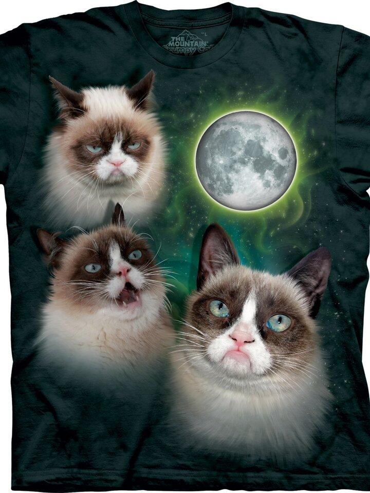 Lifestyle fotó Grumpy cats a holdnál póló