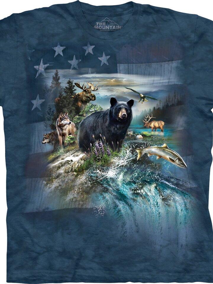 Lifestyle fotó Amerika állatai póló