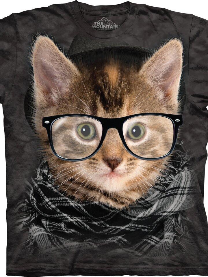 Lifestyle fotó Hipszter cica póló