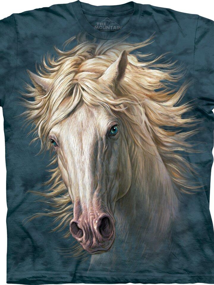 Foto Fehér ló arc póló