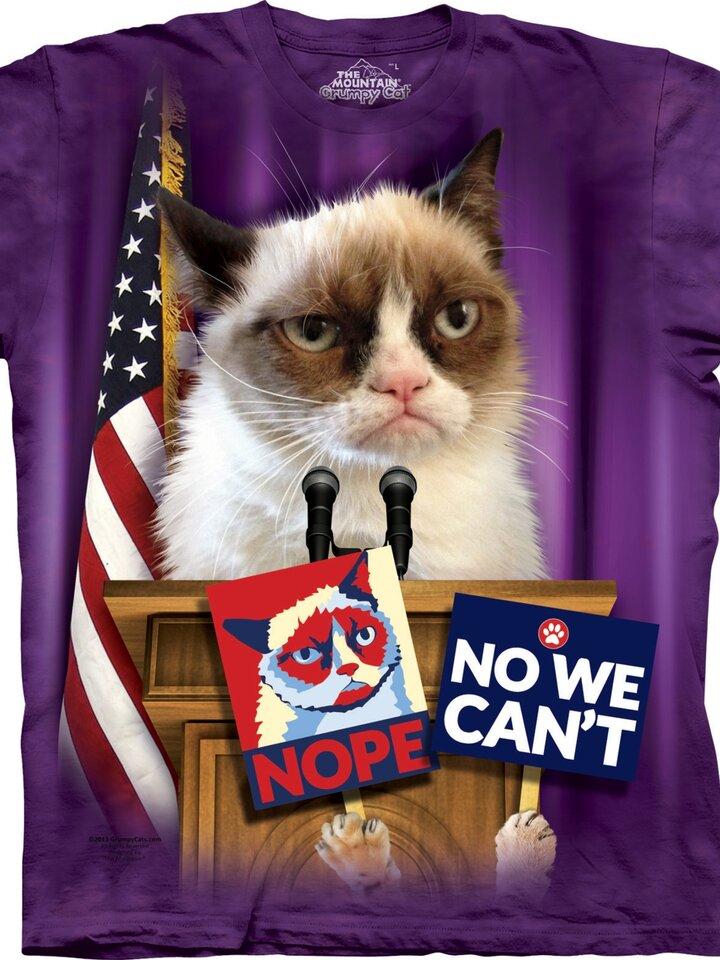 Bereiten Sie sich Freude mit diesem Dedoles-Stück T-Shirt Grumpy Cat zum Präsidenten