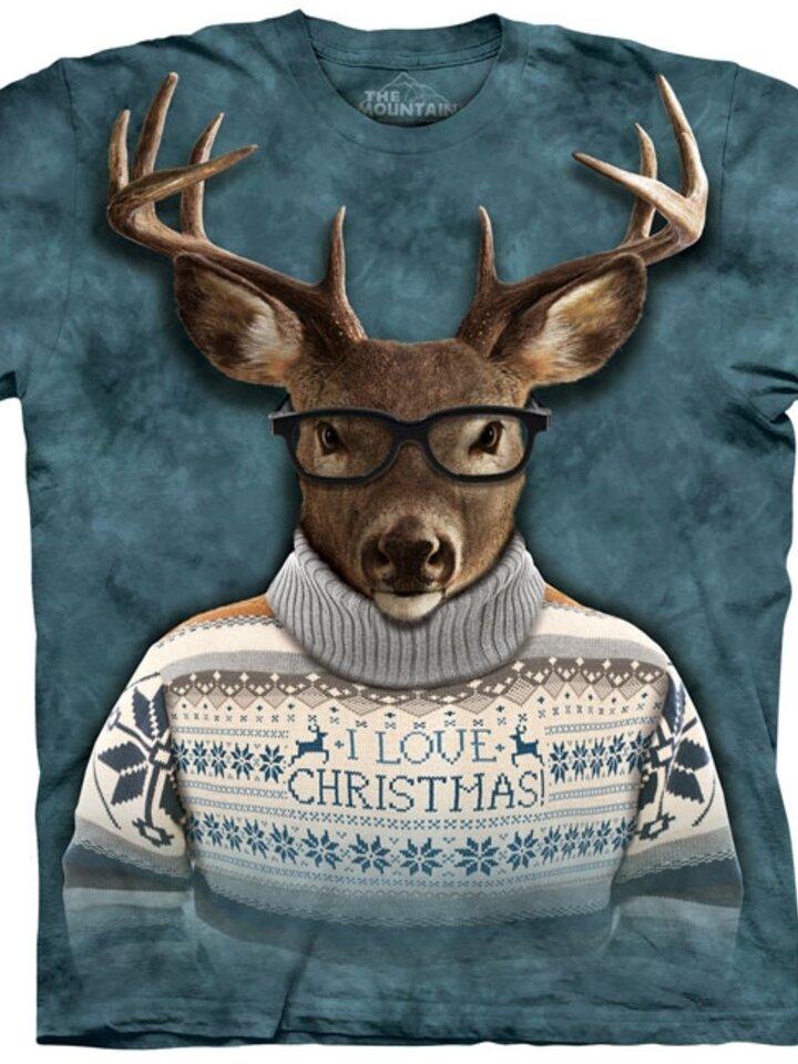 Výprodej Tričko Jelen ve vánočním oblečení