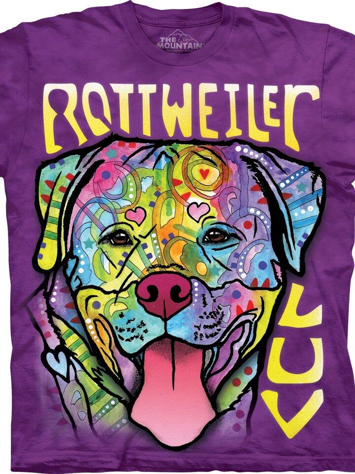 Cadou original de la Dedoles Tricou Rottweiler Luv