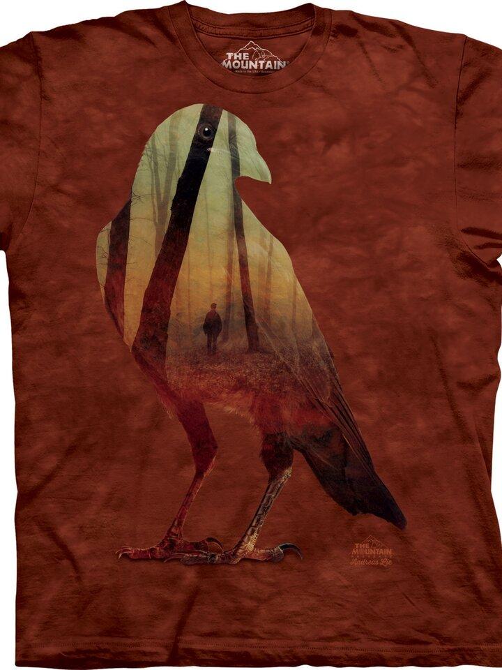 Szerezzen magának örömet ezzel a Dedoles darabbal Varjú és az erdő póló