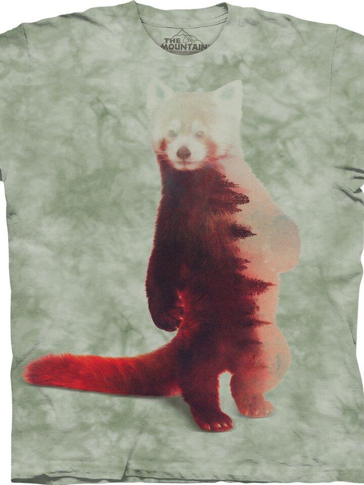 Ausverkauf T-Shirt Roter Panda und Wald