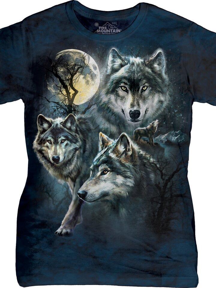 Lifestyle-Foto Dámske tričko Mesačné vlky