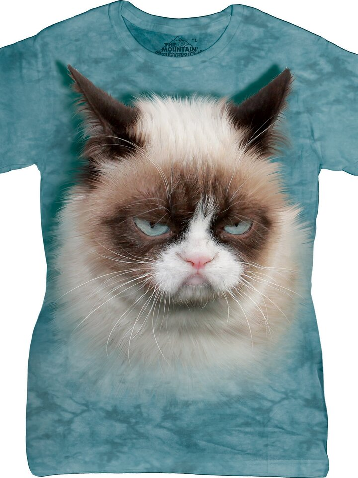 Lifestyle-Foto Damen T-Shirt Grumpy Cat