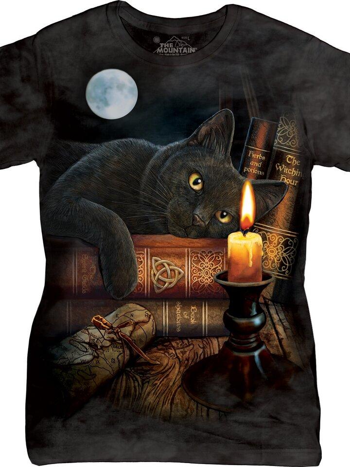Szerezzen magának örömet ezzel a Dedoles darabbal Női póló Macska a gyertyánál