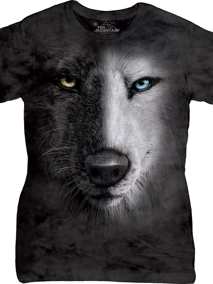 Szerezzen magának örömet ezzel a Dedoles darabbal Dámske tričko Čierno-biely vlk