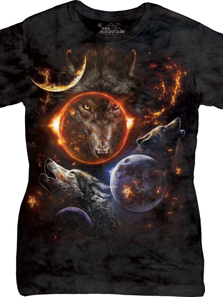 Výjimečný dárek od Dedoles Dámské tričko Cosmic Wolves