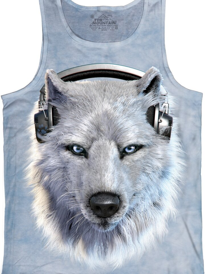 Looking for an original and unusual gift? The gifted person will surely surprise with White Wolf DJ  Unisex