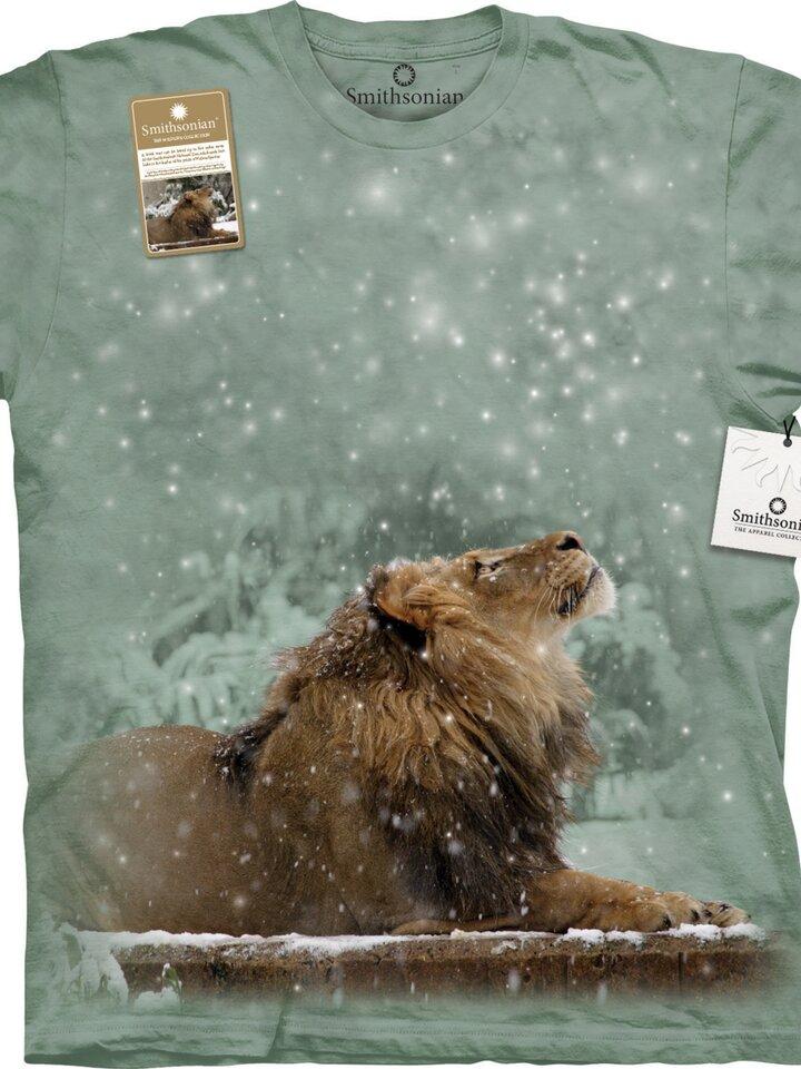 Lifestyle-Foto T-Shirt Löwe im Schnee