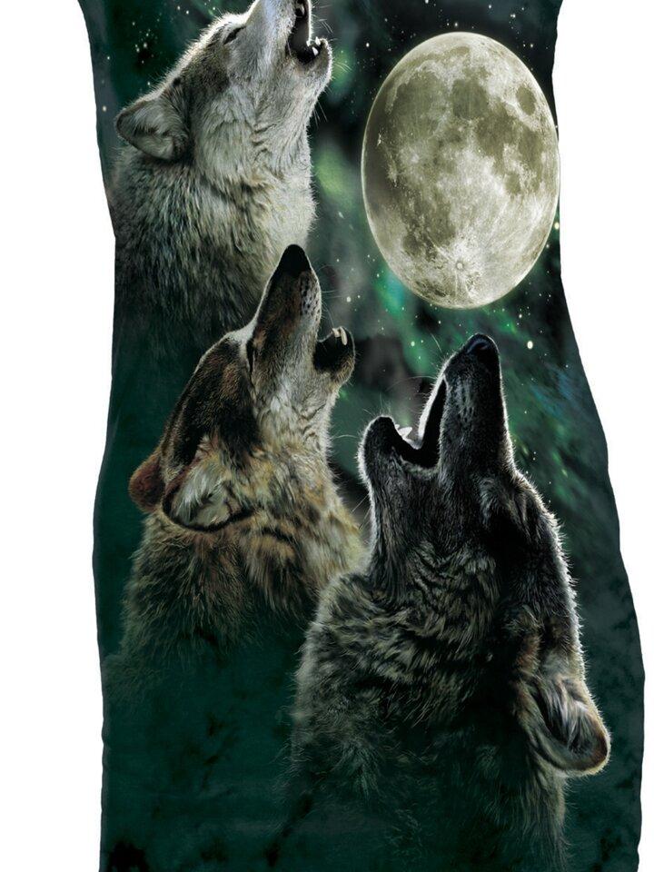 Geschenk von Dedoles Minikleid Drei auf Mond heulende Wölfe