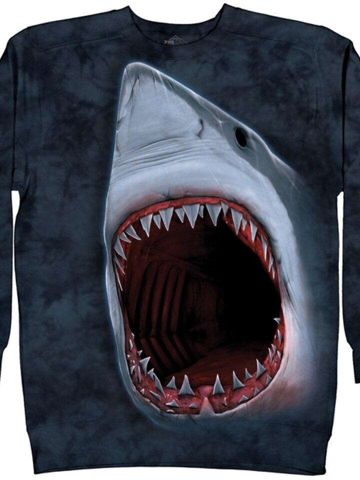 Ausverkauf Sweatshirt ohne Kapuze Haizähne